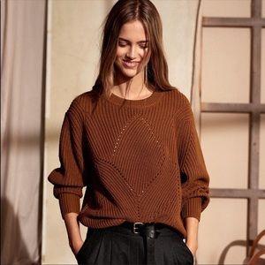 Aritzia Wilfred 💯% Merino Wool Serment Sweater